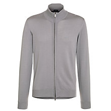 Buy Armani Jeans Zip Up Cardigan, Navy Online at johnlewis.com