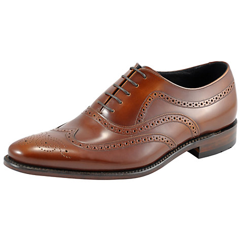 Buy Loake Jones Leather Brogue Oxford Shoes, Tan Online at johnlewis.com