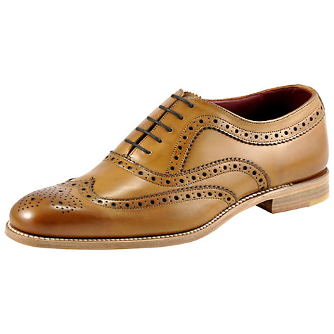 Buy Loake Fearnley Brogue Oxford Shoes, Tan Online at johnlewis.com