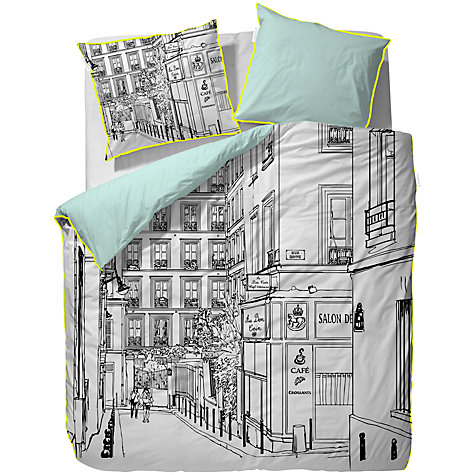 Buy Essenza Paz Duvet Cover and Pillowcase Set, Black and White Online at johnlewis.com