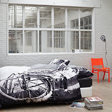 Buy Essenza Serge Monochrome Duvet Cover and Pillowcase Set Online at johnlewis.com