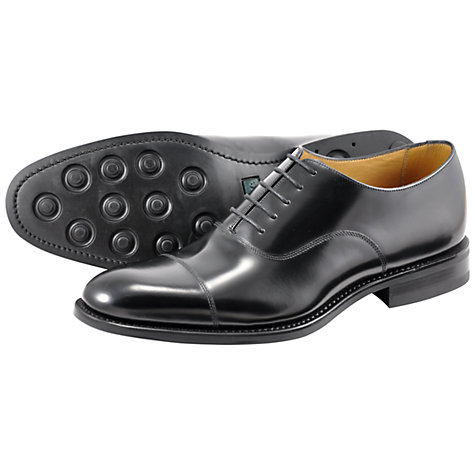 Buy Loake Finsbury Goodyear Welt Leather Oxford Shoes, Black Online at johnlewis.com
