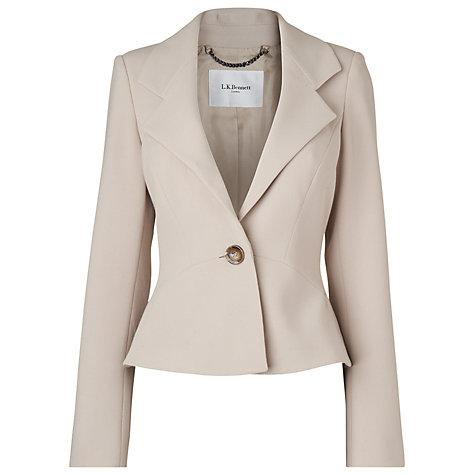 Buy L.K. Bennett Kathy Jacket, Soft Biscuit Online at johnlewis.com