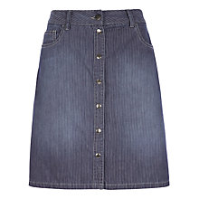 Buy Jigsaw Washed Chino Stripe Skirt, Blue Online at johnlewis.com
