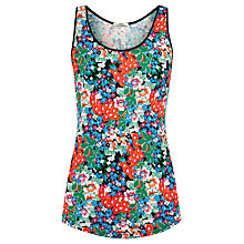 Buy Oasis Satin Pansy Cluster Vest, Multi Online at johnlewis.com
