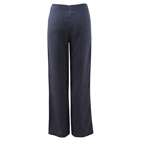 Buy East Drawstring Delave Trousers, Denim Online at johnlewis.com
