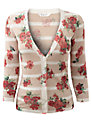 Buy East Floral Linen Cardigan, Jute, XL Online at johnlewis.com