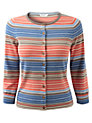 Buy East Amalfi Striped Cardigan, Multi, S Online at johnlewis.com