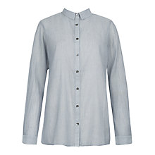Buy Jigsaw Striped Ladder Shirt, Steel Online at johnlewis.com