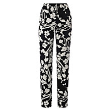 Buy Hobbs Emmeline Trousers, Navy/White Online at johnlewis.com