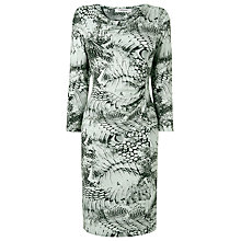 Buy L.K. Bennett Dijon Snake Print Dress, Print Black/White Online at johnlewis.com