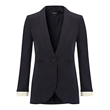 Buy Hobbs Isabella Jacket, Navy Online at johnlewis.com