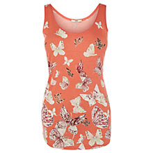Buy Oasis Butterfly Print Vest Top, Multi Online at johnlewis.com