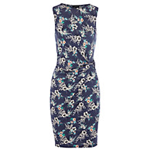 Buy Warehouse Patterned Wrap Dress, Blue/Multi Online at johnlewis.com