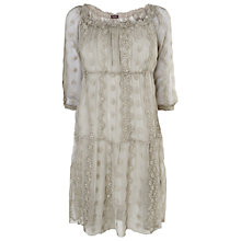 Buy Phase Eight Made in Italy Rachel Embroidered Dress, Washed Grey Online at johnlewis.com