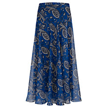 Buy Jigsaw Paisley Maxi Skirt, Blue Online at johnlewis.com