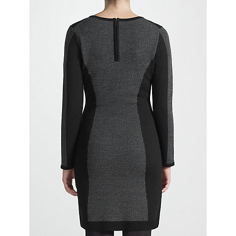 Buy COLLECTION by John Lewis Joselyn Knit Dress, Black/Grey Online at johnlewis.com