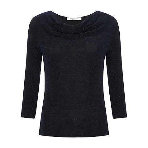 Buy COLLECTION by John Lewis Jasmin Cowl Neck Top, Blue Online at johnlewis.com