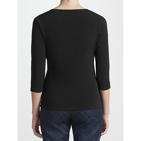 Buy COLLECTION by John Lewis Reina Long Sleeve Wrap Top, Black Online at johnlewis.com