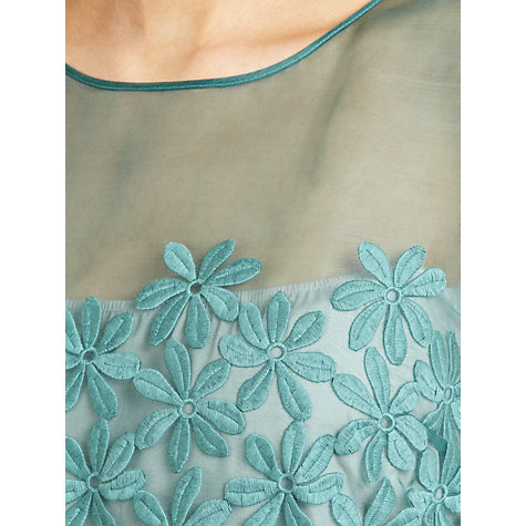 Buy Hoss Intropia Daisy Chiffon Dress, Aloe Online at johnlewis.com