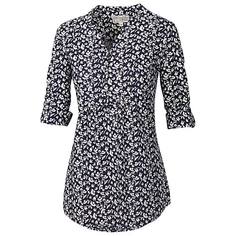 Buy Fat Face Lorna Daisy Bird Tunic, Navy Online at johnlewis.com