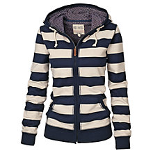 Buy Fat Face Erin Zip Thru Hoody, Navy Online at johnlewis.com