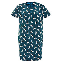 Buy Hoss Intropia Feather Print Dress, Petroleum Online at johnlewis.com