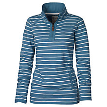 Buy Fat Face Airlie Stripe Funnel Sweater, Petrol Online at johnlewis.com