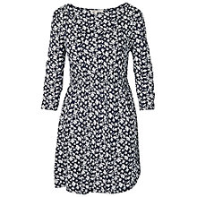 Buy Fat Face Electra Daisy Bird Print Tunic Top, Navy Online at johnlewis.com