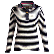 Buy Joules Sabrina Stripe Polo Top, Navy Stripe Online at johnlewis.com