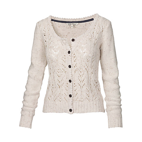 Buy Fat Face Lucy Lace Cardigan, Ivory Online at johnlewis.com