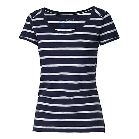 Buy Fat Face Tropez Stripe T-Shirt, Navy Online at johnlewis.com