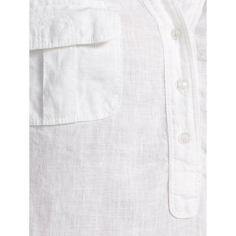 Buy John Lewis Linen Safari Tunic Top, White Online at johnlewis.com