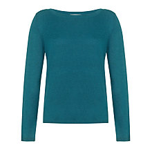 Buy John Lewis Slash Neck Sweater, Teal Online at johnlewis.com
