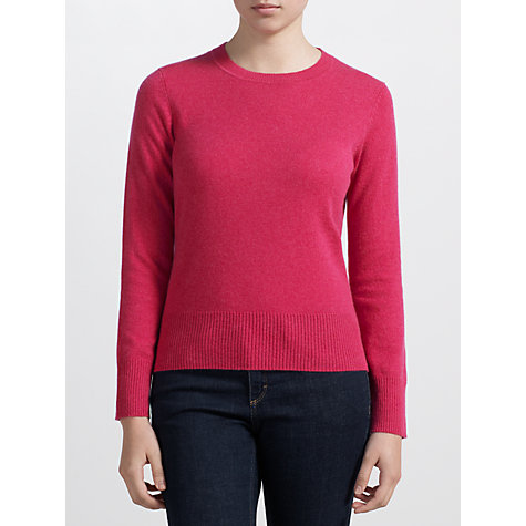 Buy John Lewis Crew Neck Cashmere Jumper Online at johnlewis.com
