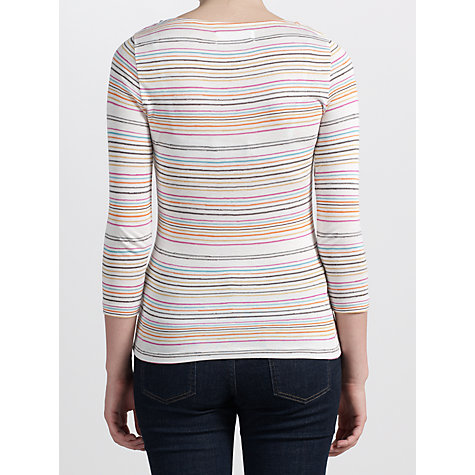 Buy Collection WEEKEND by John Lewis Wobbly Stripe Slash Neck Top, Multi Online at johnlewis.com