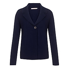 Buy John Lewis Cashmere Revere Collar Cardigan, Navy Online at johnlewis.com