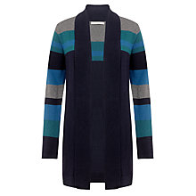 Buy John Lewis Capsule Collection Colour Block Edge Cardigan, Teal/Navy Online at johnlewis.com
