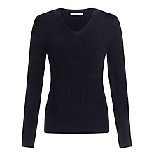 Buy John Lewis Cable V-neck Sweater Online at johnlewis.com