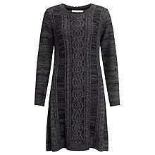 Buy John Lewis Capsule Collection Marl Cable Knit Dress, Grey/Black Online at johnlewis.com