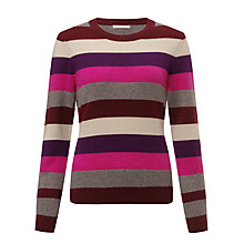 Buy John Lewis Cashmere Stripe Crew Neck Jumper Online at johnlewis.com
