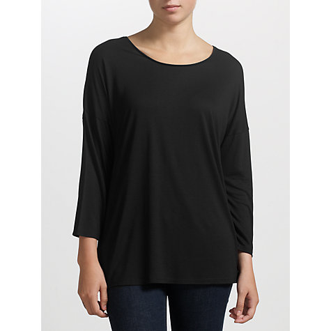 Buy Kin by John Lewis Long Sleeve Drop Shoulder T-Shirt, Black Online at johnlewis.com