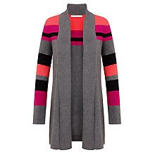 Buy John Lewis Capsule Collection Colour Block Edge Cardigan, Grey/Pink Online at johnlewis.com