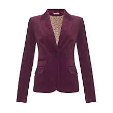 Buy John Lewis Capsule Collection Corduroy Blazer, Purple Online at johnlewis.com