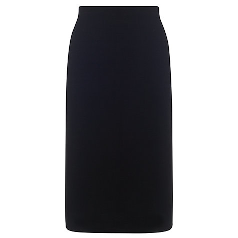 Buy Kin by John Lewis Ponte Ribbed Zip Back Skirt, Black Online at johnlewis.com