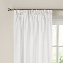 Buy John Lewis Layla Lined Pencil Pleat Curtains, White Online at johnlewis.com