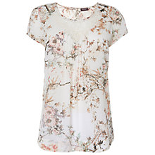 Buy Phase Eight Willow Print Floral Top, Natural Online at johnlewis.com