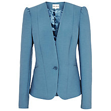 Buy Reiss Slim Puff Shoulder Jacket, Cornflower Blue Online at johnlewis.com