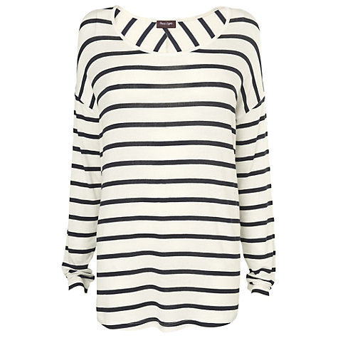 Buy Phase Eight Doris Oversized Top, Navy/Ivory Online at johnlewis.com