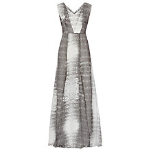 Buy Reiss Mono Printed Maxi Dress, Black Online at johnlewis.com